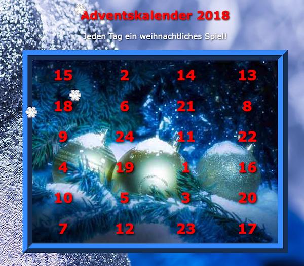 Spiele-Kalender 2018
